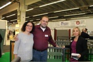 v. l. Frau und Herr Meier Metallbau Bernd Meier und WFG Geschäftsführerin Miriam Heinrich